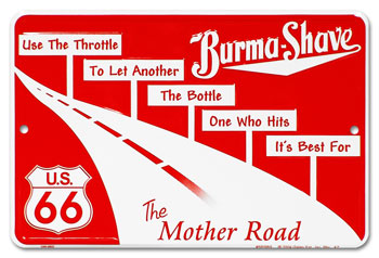 Image result for burma shave signs