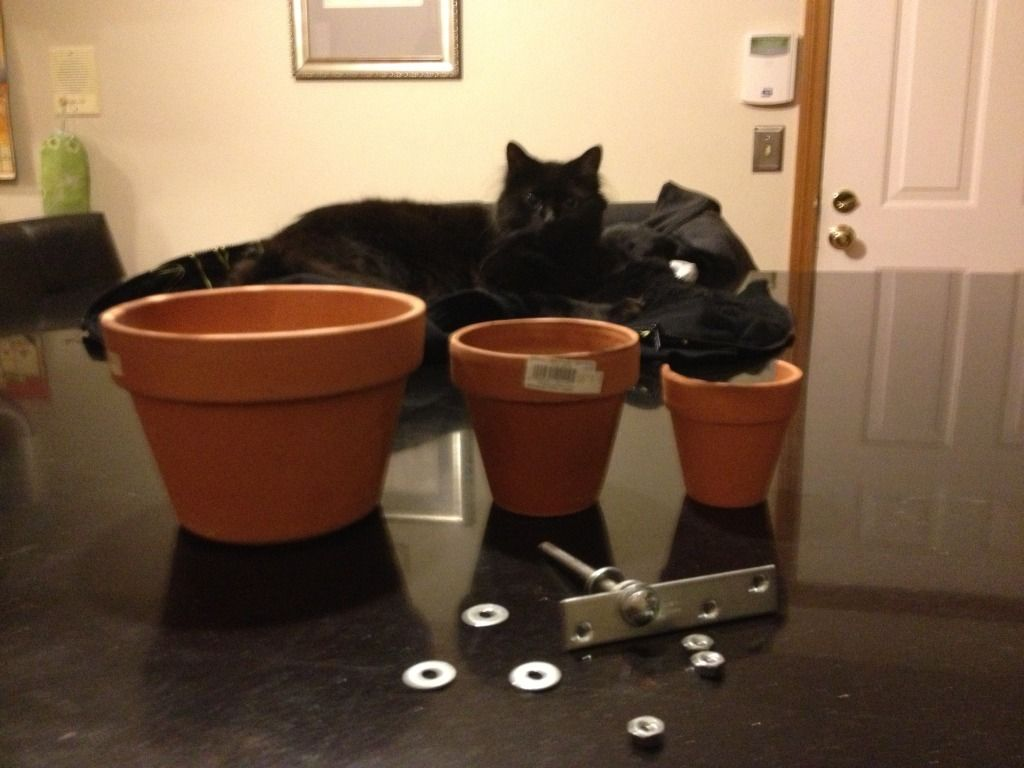 Emergency Heating With Flower Pots