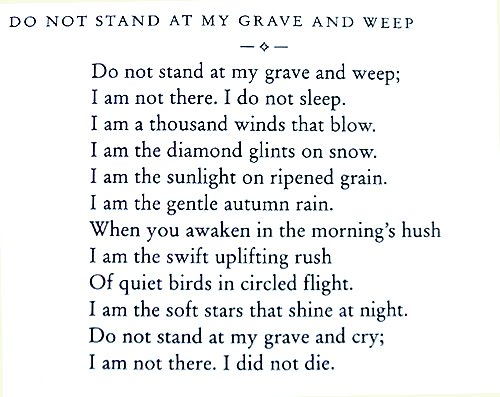 Do Not Stand At My Grave And Weep 171 Spydersden