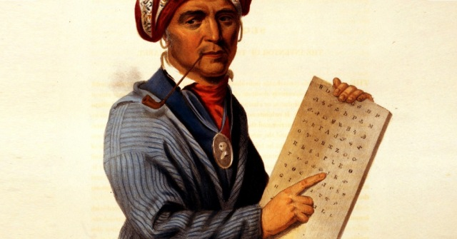 Sequoyah_Cherokee_inventor_by_C.B._King_1836