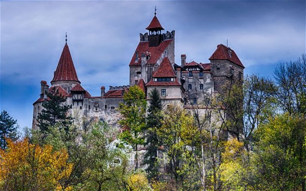 D0BCRP   Medieval Bran castle in Romania,