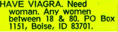 classified ads funny pics