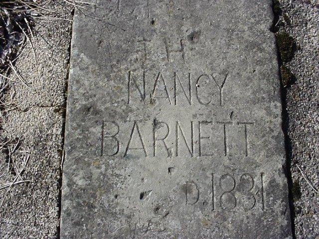 nancy barnett grave