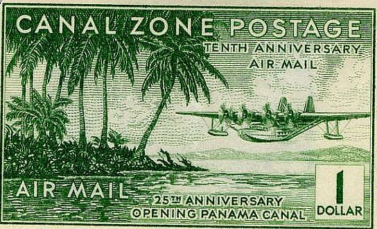 The Canal Zone issued its own postage stamps