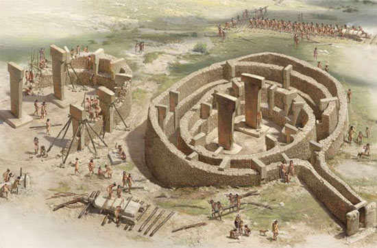 Artist's reconstruction of Gobekli-Tepe