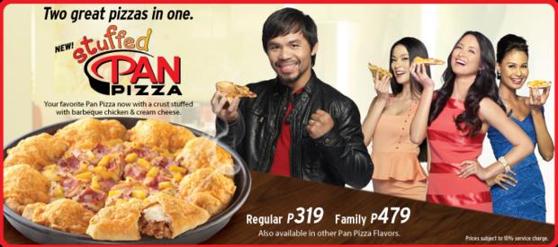stuffed pan pizza