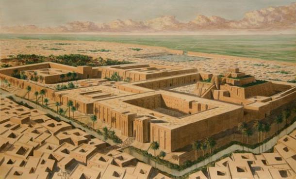 Reconstruction of Sumerian city of Ur