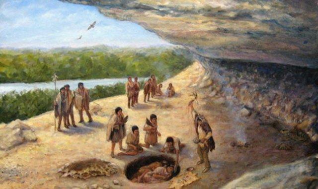 Paleo-Indians-burying-the-deceased